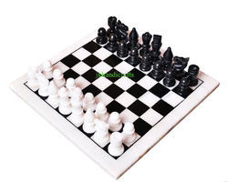 Marble Inlay Chess Set