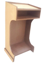 Wooden Podium With Shelf