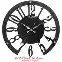 Blazon Wood & Glass Designer Analog Wooden Wall Clock, Size: 400 X 400 Mm, Model Name/number: B-507 Pendulum