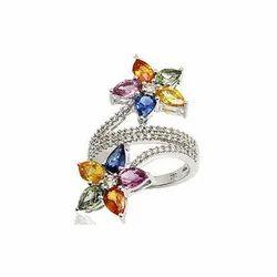 Multi White Diamond Rings