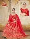 Fancy Embroidery & Heavy Diamond work 3 PCS Lehenga with Dupatta & Blouse - Vaatsalya