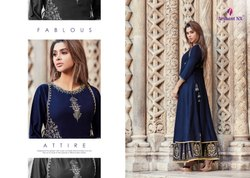 Riverra-Arihant Party Wear Beautiful Designer Muslin Silk Long Gowns