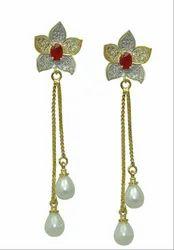 Designer Metal Dangle And Drop Earrings For Women And Girls