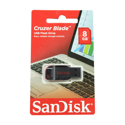 Plastic Red And Black Sandisk 8 GB Pen Drive