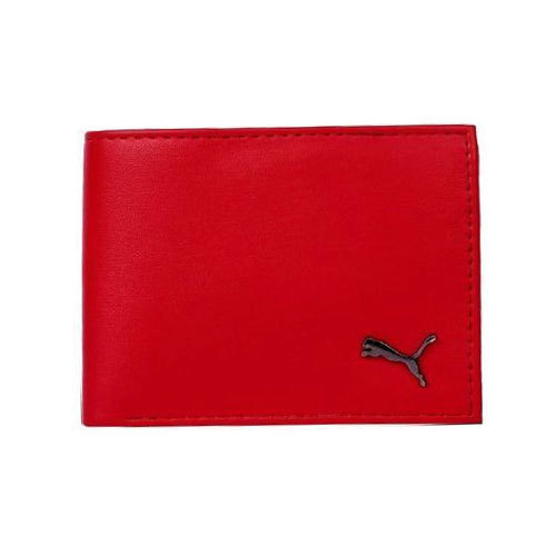 fdcc2f4ff7 Genuine Leather Puma Red Leather Wallet