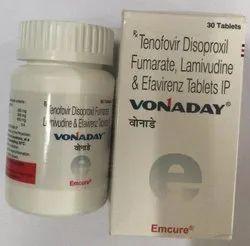 Vonaday (Tenofovir Disoproxil Fumarate, Lamivudine & Efavirenz)