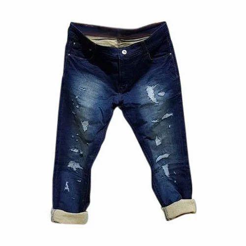 4bb3da8d1 Mens Regular Fit Ripped Denim Jeans, Size: 28-44, Rs 550 /piece | ID ...