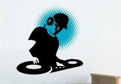 Multicolor Printed Asianpaints Wall DJ Music Wall Sticker