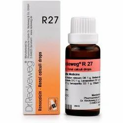 Dr Reckeweg R27 Homeopathic Drop (Free Worldwide Shipping), For Personal, Packaging Type: Bottle