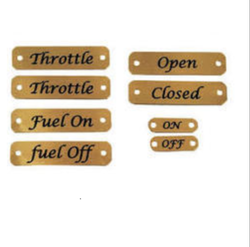 Yellow Brass Tags, Packaging Type: Box