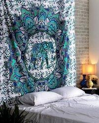 Center Elephant Tapestry