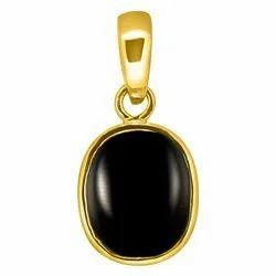 Black Onyx Pendant Panchdhatu Gold Polish 24K Gemstone Weight