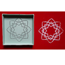 Flower Dotted Rangoli Pattern