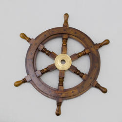Pirate Boat Nautical Wooden Ship Wheel