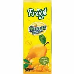Froot Ice Mango Drink, Packaging Type: Tetra Packaging, Packaging Size: 200 Ml