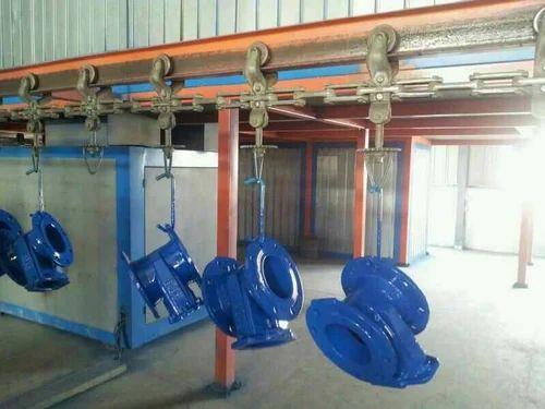Overhead Conveyor For Powder Coating Line Voltage 420 V