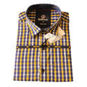Mens Cotton Casual Wear Checked Shirt, Size: Xl