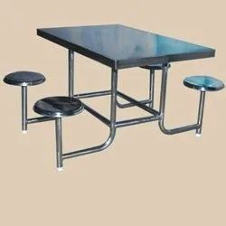 S.S. Dining Table With  four Seater