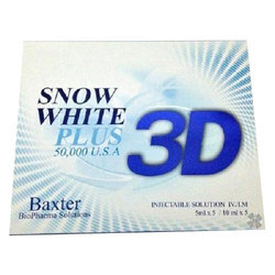 3D Snow White Plus 50000mg Glutathione Injection