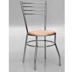 Shiva Polished Stainless Steel Dining Chair, For Restaurant