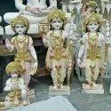 Marble Ram Darbar Statue with Hanuman