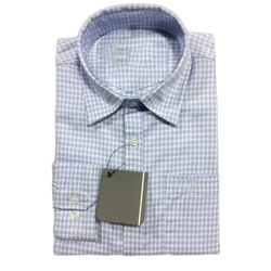 Collar Neck Mens Checked Full Sleeve Cotton Shirt, Size: 38 to 44