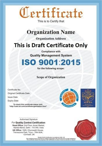 ISO 9001:2015 Certification Services in Narela, Delhi, Quality ...
