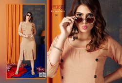 Georgeous-Rung Heavy Two Tone Rayon Latest Kurtis