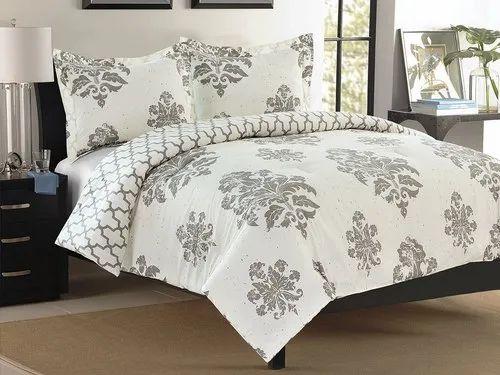 Decron Mattress Cotton Floral Print Printed Single Bed Sheets, | ID: 12791507697