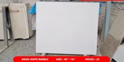 Green Hone Finish Swiss White Marble, Tile, Thickness: 10-15 mm