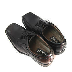 Gents Black Leather Shoes, Size: 6 to 12