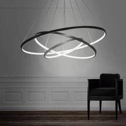 LED Ring Chandelier Light