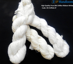 Chiffon Silk Ribbon-White