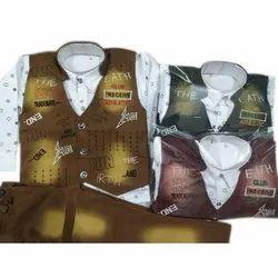 Cotton,Denim Boy Kids Modern Baba Suit, 0-32