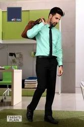 Sea Green Plain Corporate Uniform Unstitched Shirts And Pant