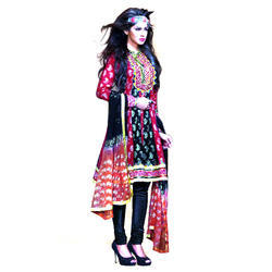 Multicolor Casual Wear Ladies Designer Suit