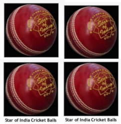 Star Of India Red Cricket Ball