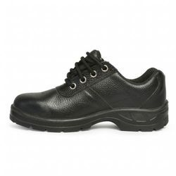 Hillson Leather Black Safety Shoes