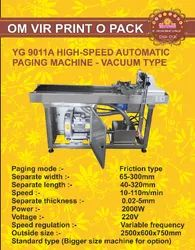 YG 9011A High-Speed Automatic Paging Machine-Vacuum Type