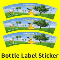Offset Printing Paper Bottle Label Sticker, Packaging Type: Packet
