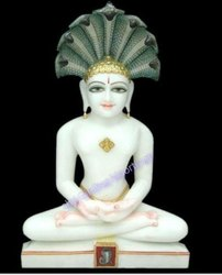 Marble Parshav Nath Statue