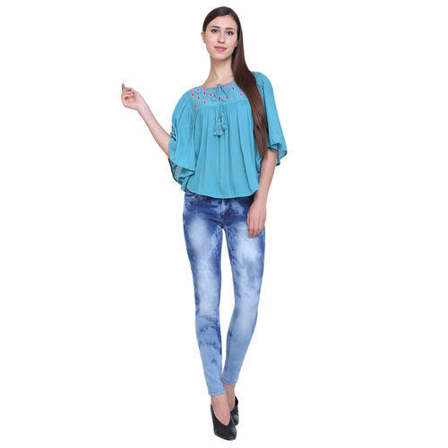 8e4be81a130 Sky Blue Denim Ladies Jeans