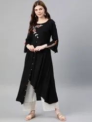 Rayon Embroidered Up & Down Style Kurta