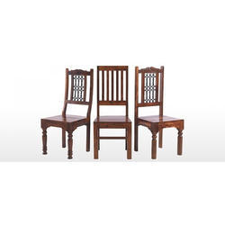 Brown Wooden Dining Table Chair, For Home
