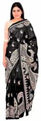 RIAA Pure Silk Embroidered Designer Kantha Stitch Sari