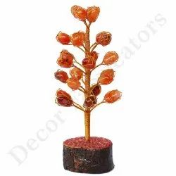Red Onyx Tree, For Decorative, Height - 8 Inch