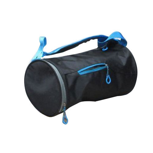 3ee29834d3a5 Blue And Black Plain Sports Round Kit Bag