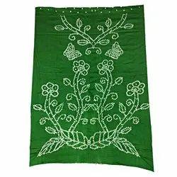 All Over Parrot Green Fancy Design Cotton Bandhani Kurti