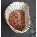 Cane Bean Shape Brown Basket