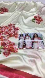 Floral Satin Saree